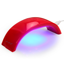 LKE 12W LED Nail Dryer Nail Lamp 6 Light LED Nail Art Manicure/Pedicure Support USB Charger Cure UV LED Nail Gel Machiner