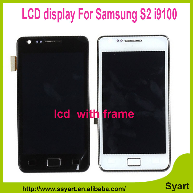 New 9100 Full lcd White Black LCD Display Touch Screen Digitizer Glass Assembly Replacement with frame For Galaxy S2 i9100 <br><br>Aliexpress