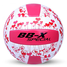 High Quality PU Leather Volleyball Ball Official Size 5 Beach Volleyball Ball Volei For Outdoor Training Pink Handball(China)