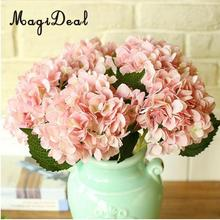MagiDeal Novelty Artificial Hydrangea Flower Silk Plant Wedding Party Art Hall Office Shop Home Garden Decor Mother's Day Gift(China)