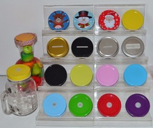 Drinking glass colorful polka dots lids,Mason jar Hole Lids for Kids Parties birthday Baby Showers Drinking Accessories