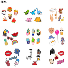 Funny Cartoon Set Brooches For Women Cute Badge Anime Lapel Tie Pins Collar Flower Pin Broches Girl Dogs Bouquet Fashion Jewelry