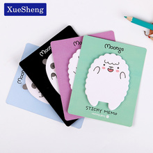 3 PCS Cute Animal Sheep Mini Stickers Korean Stationery Sticky Notes Post Note Kawaii for Diary Things Memo Pad(China)