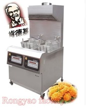 RY-323 RongYao brand double screen frying pan fried chicken KFC fries machine special oven commercial thickening stainless steel