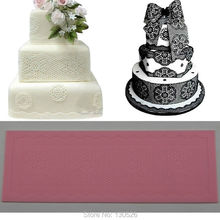 40x13cm DIY Lace Fondant Mold Cake Decoration Chocolate Mould Printing Food-Grade Silicone Lace Gum Paste Baking Mold Cake Decor(China)