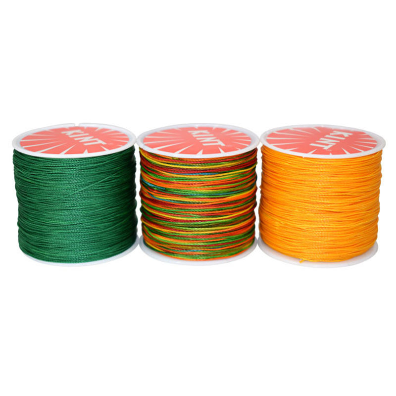 0.8mm Round Waxed Thread Polyester Cord Hand Sewing Stitching Leather Crafts 90M
