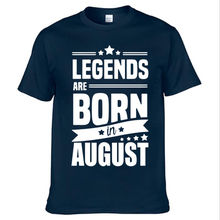 Buy 2017 New Casual Legends Born August Funny Birthday Gift Printed Short Sleeve Tees Men Fashion Cotton T-Shirt Tops for $9.48 in AliExpress store