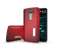 Net Case For LG V10 G4 Pro case Heat Radiation Function Slim Dual Armor Phone Accessories For LG G5 With Stand 100pcs (SS0723)