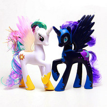Horse Toys Twilight Sparkle Princess Celestia Rainbow Unicorn Pinkie Pie Princess Luna Model Figure Toys Doll For Kids