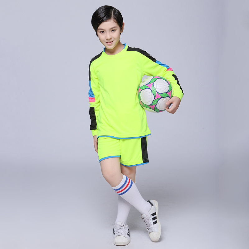 2017 Boys Soccer Sets Youth Kids Blank Custom Team Uniforms Long Sleeve Kits Girls Survetement Football Jerseys Training Suits(China (Mainland))