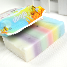 New Arrivals Thailand  Soap Mix Color Plus Five Bleached White Skin 100% Gluta Rainbow Soap