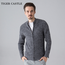 TIGER CASTLE Men Fashion Wool Sweater Male Knitted Cardigan Fashion Mens Sweaters Spring Autumn Leisure Sweater for Men(China)