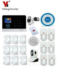 Yobang Security- House Office Burglar Intruder Alarm System HD IP Camera Wireless Zones App Control WIFI GSM Security Alarm Kit(China)