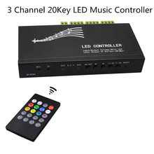 10pcs DC12V-24V Programmable LED Time Controller 20A with USB cable,18A 20Key IR remote LED Music Controller for LED Strip Light