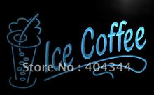 LB360- ICE COFFEE Shop Cafe Drinks NEW LED Neon Light Sign home decor shop crafts(China)