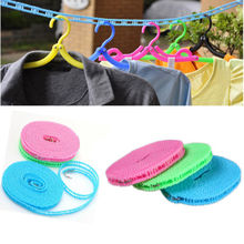 1PC Hot Sale!!!Practical Useful Portable Outdoor Travel Business Clothesline Washing Clothes Line Rope 3m/5m MIN(China)