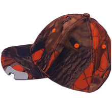 Fluorescen Hunter Orange Hat Hunting Fishing Cap Headwear 5LED Corkscrew Bottle Opener Cap Light Outdoor Hat