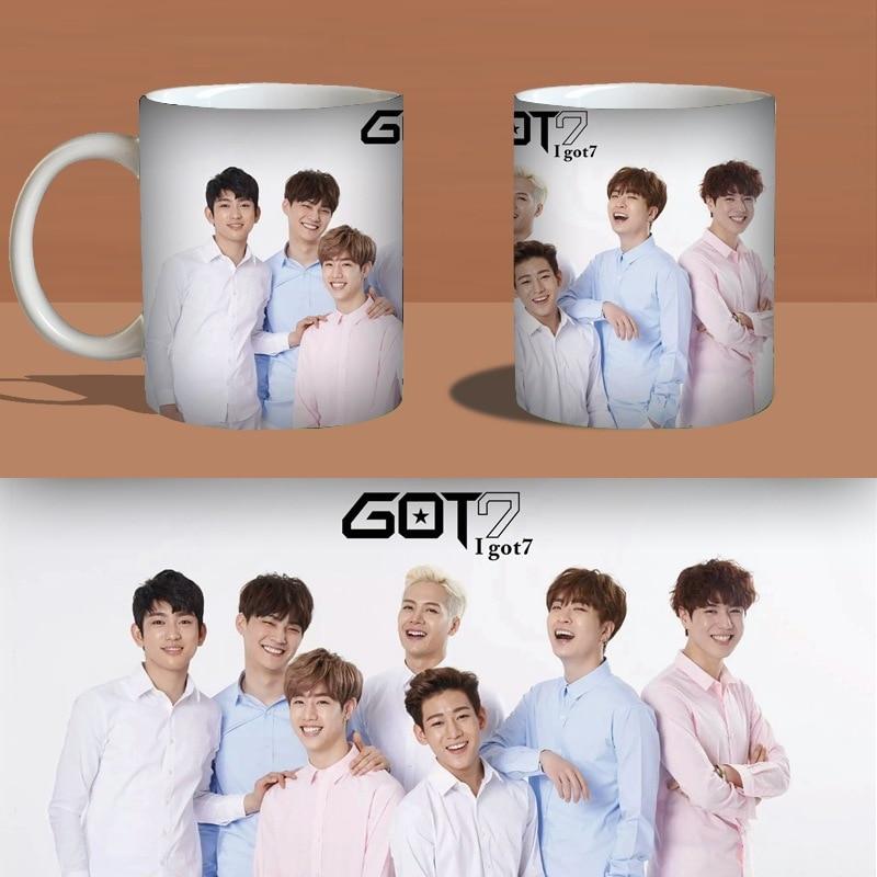 mykpop Toys & Hobbies got7 Lay Coffee Mug Water Milk Ceramic Cup Creative Kpop Fans Collection Sa18101801