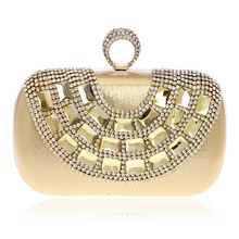 Women Evening Bags Clutch Bags Evening Clutch Purses Wedding Bridal Handbag Singer Side Ctysal Fashion Rhinestone purse New