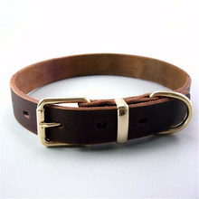 Leather Cow Collars for Big Dogs Golden Retriever Bulldog Medium Large Animals Strong Sturdy Necklace Dogs Pets Accessories