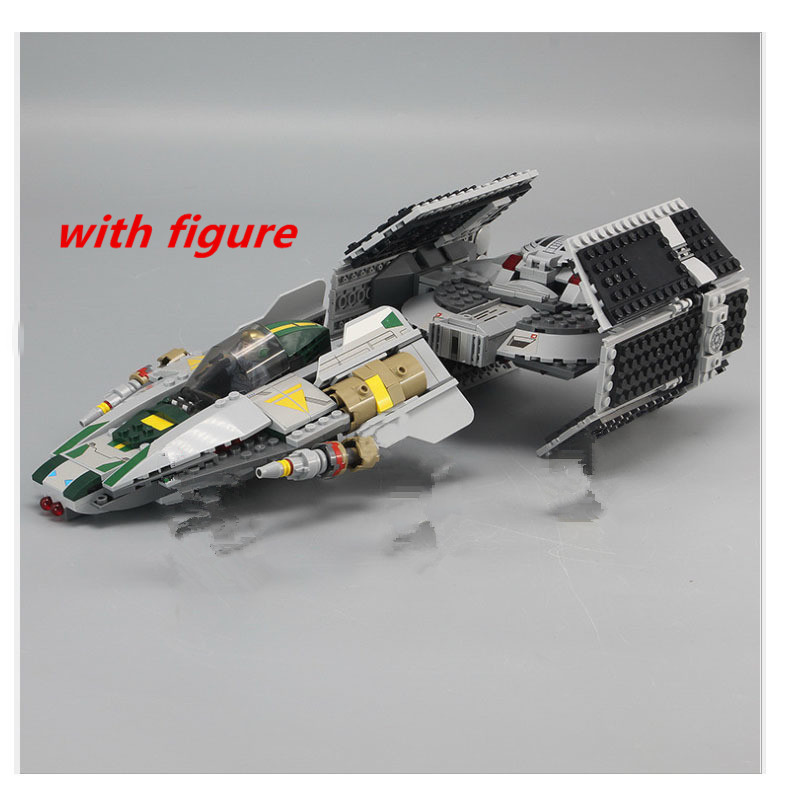 compatible legoing starwars 75150 LEPIN 05030 Star Wars Tie fighter  Vader Advanced VS A Star wing fighter Building Blocks <br>