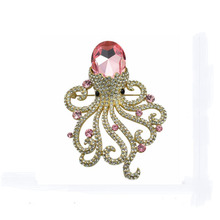 animal marine Octopus brooch rhinestone brooches for women Valentine's Day gift jewelry costume jewelry brooches bouquets