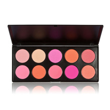 Fashion Makeup For Women 10 Color Blush Cosmetic Blusher Fashion Korean Trendy Powder Palette Beauty Make Up Accessories  TN