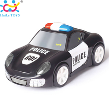 HUILE TOYS 6106A Baby Toys Rapid Police Model Car with Touchable Function Pull Back Cars Toys for Children(China)