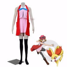 Athemis Pokemon Ash Ketchum cosplay Pocket Monster Serena cosplay costume in stock