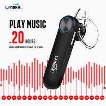 LANSHA Chinese Voice 30 Days Standby Bluetooth Headset with Mic Wireless Earpiece Handsfree for Iphone Android Phone Car Driver