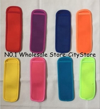 Free Shipping 200pcs/lot Popsicle Holders Pop Ice Sleeves Freezer Pop Holders 6x18cm