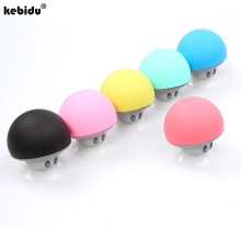 kebidu Mini Mushroom Wireless Bluetooth Speaker Portable Waterproof Shower Stereo Subwoofer Music Player For iPhone Mobile Phone(China)