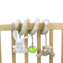 New Arrive Newborn Infant Toys Hanging Baby Rattles Baby Soft Plush Toys Baby Crib Hanging Toys Stroller Playing Toy   1pc