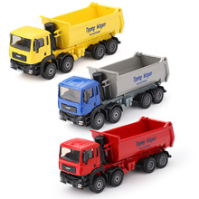 Alloy Engineering Car Model Toys In Gift Box All Alloy 1:50 Dump Truck Eight Wheel Truck Toys Model Kids Toys Gifts For Children(China)