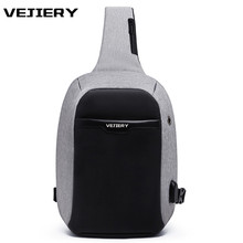VEJIERY 2018 Crossbody Bags for Men Messenger Chest Bag Pack Casual Bag Waterproof Oxford Single Shoulder Strap Pack Women Bag(China)
