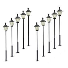 10pcs Model Railway Led Lamppost Lamps Street Lights HO Scale 5cm 12V New LYM07 model outdoor lamp yard light leds(China)