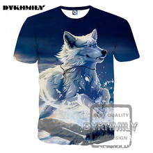 Dykhmily 2017 New 3d Cat T Shirt Printed Animal T-shirt White cool Wolf Clothing Harajuku Tee Shirt Casual Unisex 3d T Shirt