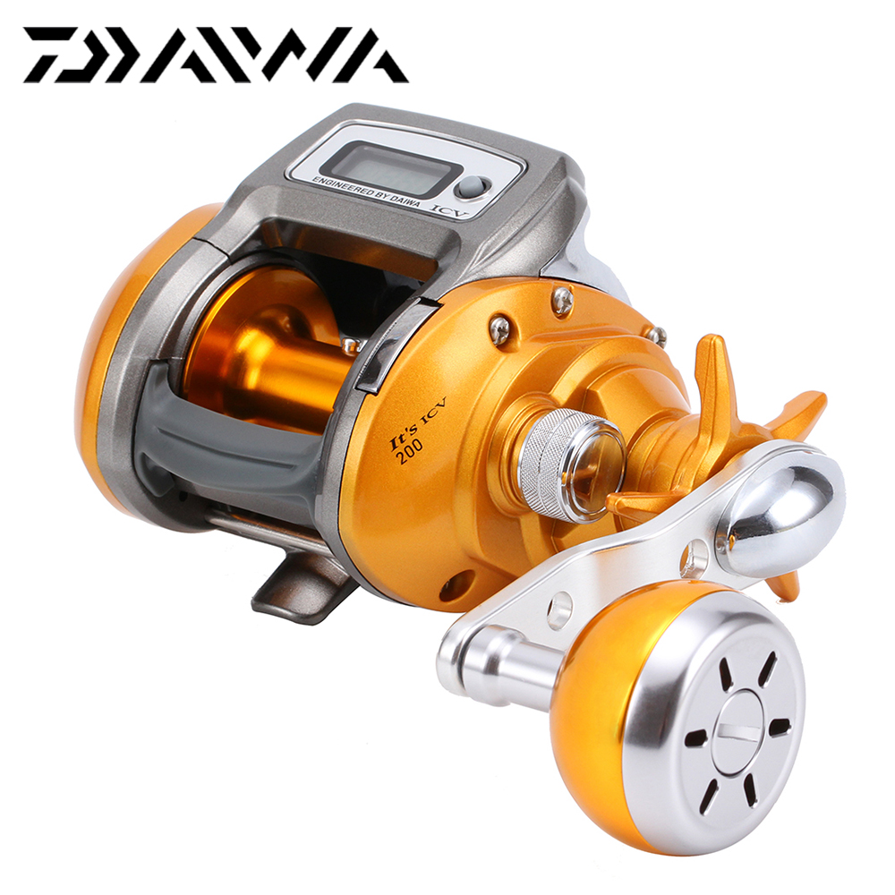 100% DAIWA 13 IT'S ICV 200 200L Electric Counting Reel Right Left Hand Baitcasting Fishing Reel Digital Counter Sea Fishing Reel(China (Mainland))