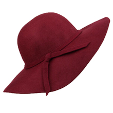 Western Style Autumn Winter Women's Woolen Felt with Bowknot Design Hats(China)