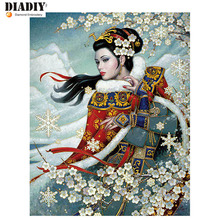 5D Diamond embroidery people diamond cross stitch round painting diy girl - DIADIY Round Mosaic Painting Store store