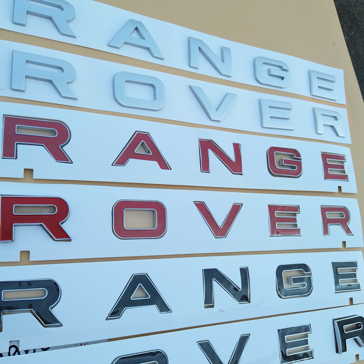 NEW High Quality RANGE ROVER 3D Head Cover Letters Sticker black/red/silver glue sticker Decal Logo Emblem Sports Line<br>