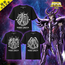 Anime 100%Cotton! Saint Seiya ghostdom Aiakos Minos Rhadamanthus Summer Cosplay t-shirt in stock free shipping 2016(China)