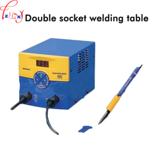 Double socket welding table FM-203 dual port soldering station with 2027 welded iron handle 140W 220V