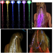 2pcs/lot Colorful LED Wigs Glowing Flash LED Hair Braid Clip Hairpin Decoration Ligth Up Show New Year Party supplies Christmas(China)