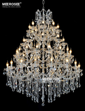 Luxurious Large Crystal Chandelier Lighting Maria Theresa Crystal Light for Hotel Project Restaurant Lustres Luminaria Lamp(China)