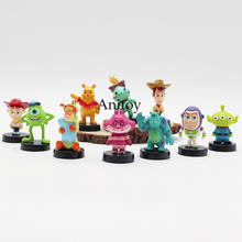 Free Shipping Anime Cartoon Toy Story 3 Buzz Lightyear Woody Mini PVC Figure Toys Dolls Child Toys Gifts 10pcs/set DSFG133(China)