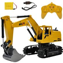2.4G Alloy 1:24 RC Excavator Car Remote Control Constructing Truck Crawler Digger Model Electronic Engineering Truck RC Toy(China)