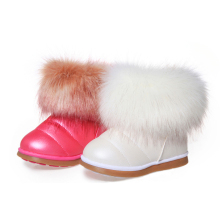 Fashion Casual Winter Fur Boots Kids Prewalk Ankle Purecontrol Botte Enfant Fille Flat Superflys Galoshes Kids 60Y035