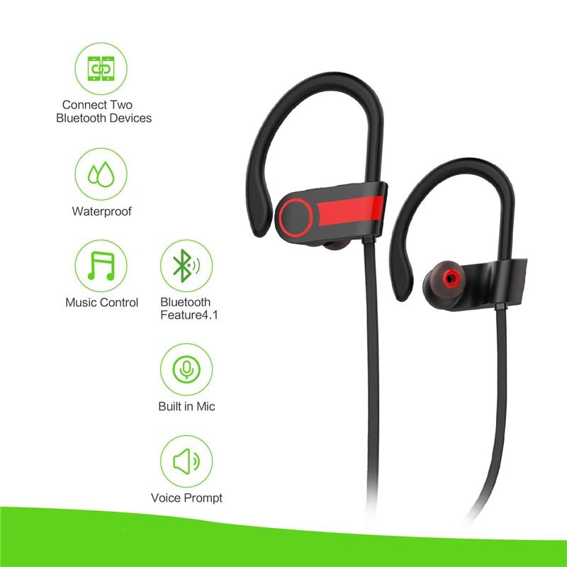 TAKEME Bluetooth Headphone Sport Earbuds Wireless Headset Premiun Sound Noise Reduction Earphone For iPhone Samsung Xiaomi