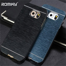 Romiky Classic PC Aluminum Metal Case For Samsung Galaxy S8 Plus S7 Edge S6 Edge Plus Phone Case Back Cover Fashion Cases(China)